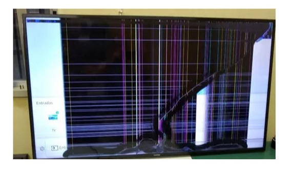 Smart Tv Led Wi-fi Samsung Un49mu6100 Tela Quebrada