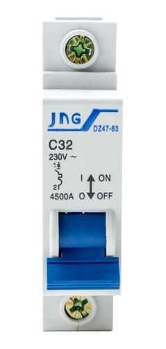 Disjuntor Jng Unipolar Curva C Din 32a Promoção