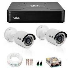 Kit 2 Câmeras De Segurança Hd 720p Giga Security Gs0015