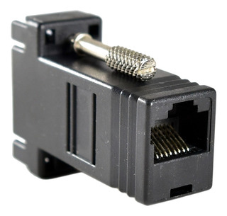 Adaptador Convertidor Extensor D Video Vga A Rj45 Utp Red /e