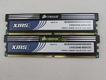 Memória Pc Corsair 4 Gb 1066 Mhz Cm2x2048-8500c5c Semi Nova