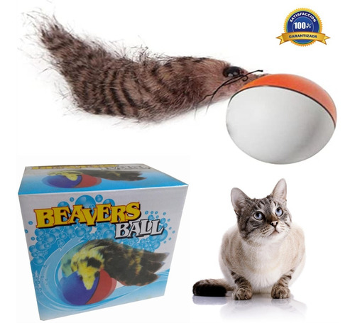 Juguete Para Mascotas Gatos Beavers Ball Bola Movible R4