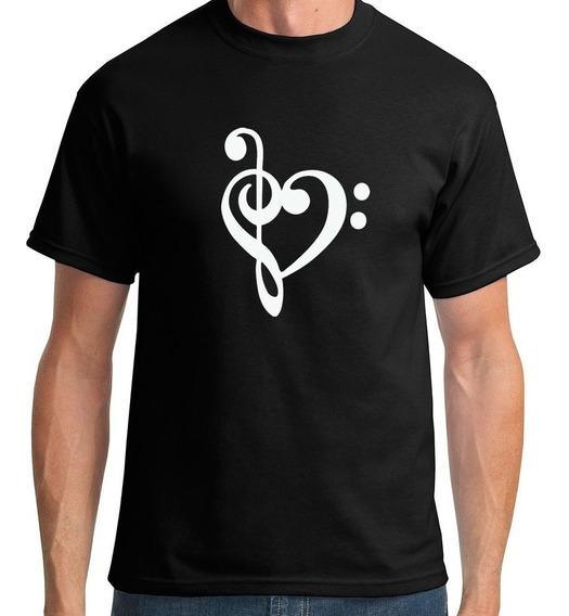 Camiseta Clave De Sol E Fá Masculino