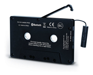 Audio Cassette Adaptador Bluetooth Para Cassette Deck