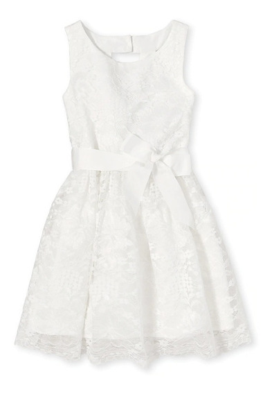 Vestido Blanco De Encaje The Childrens Place Talla 10 Años