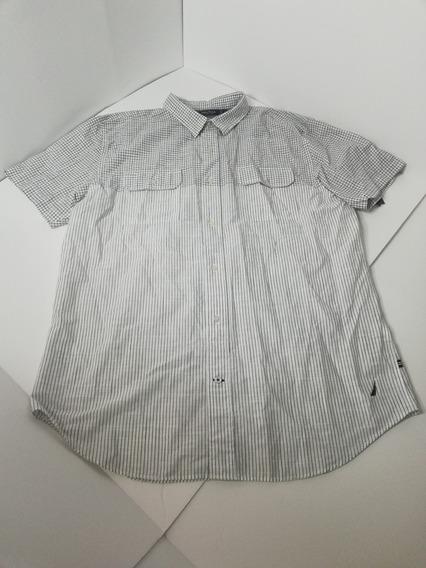 Camisa Náutica Hombre Xl Manga Corta