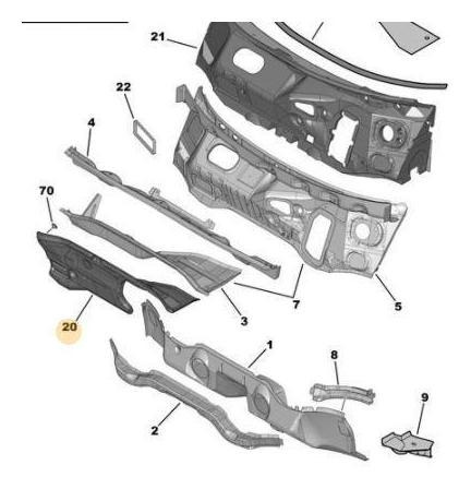 Imagen 1 de 3 de Insonorizador Torpedo Berlingo Partner