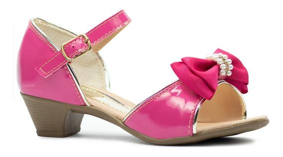 Sandalia Infantil Salto Menina Feminino Sapato Sapatilha 34
