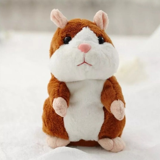 Pelúcia Hamster Falante Repete Tudo Que Falar Brinquedo Enov