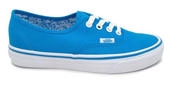 Tenis Vans Authentic Vn0a38emmls Neon Splatter Neon Blue