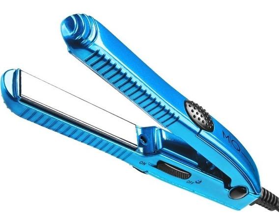 Prancha de cabelo MQ Professional Hair Styling Mini Titanium blue sky com placas de titânio 110V/220V - C300