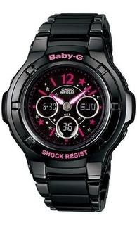Reloj De Dama Casio Baby G Mod Bga_121c Black Metal