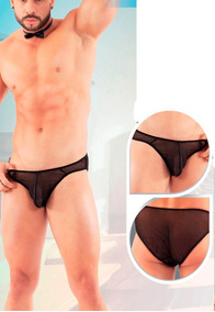 Bikini De Malla Translucida Para Hombre Ta 26 Varios Colores