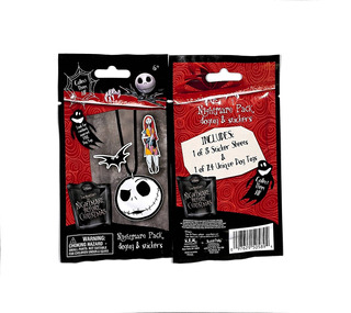 El Extraño Mundo De Jack Pack De Stickers Y Colgantes