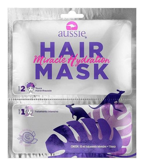 Máscara Capilar Aussie Miracle Hidratação Sachê Com Touca
