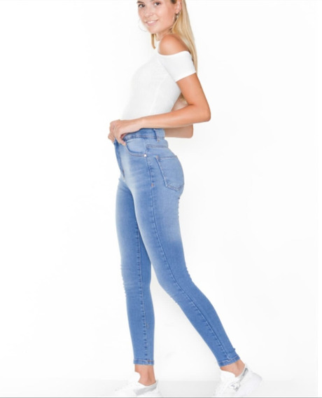 Pantalon Jean Mujer Super Alto Chupin Elastizado Artemisa