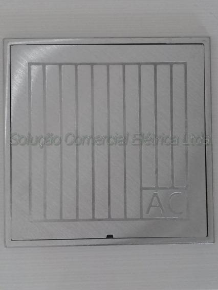 Tampa Caixa De Inspeção 40x40 Em Aluminio Escovado 3052