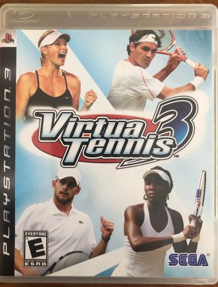 Jogo Virtua Tennis 3 Ps3 Mídia Física Com Manual