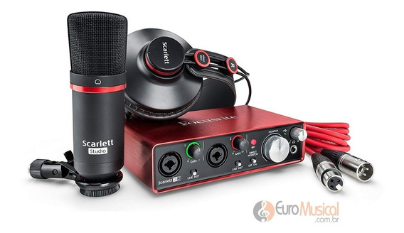 Kit Homestudio Focusrite Scarlet 2i2