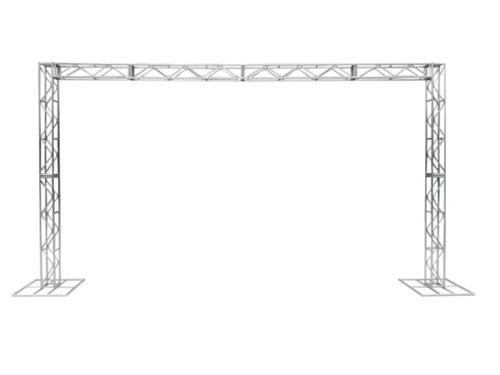 Imagem 1 de 7 de Treliças Kit Trave Box Truss Q20 Dj Aço 3x5m - Lourenço