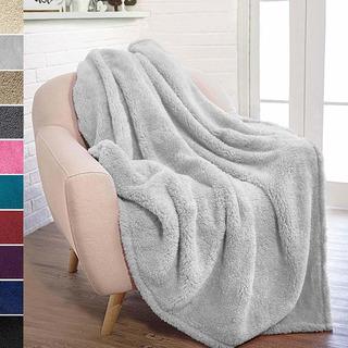 Felpa Sherpa Throw Blanket Para Sofá Cama Lanza De Ve...