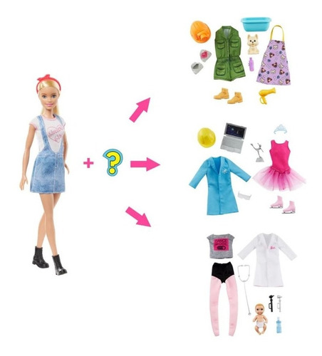 Barbie Profesiones Sorpresa Original Nuevo Mattel