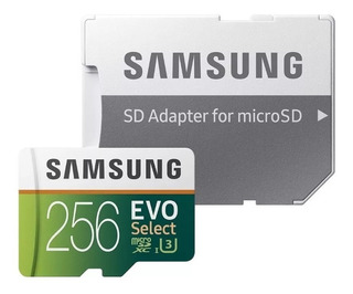Cartão 256gb Samsung Microsdxc Evo Select 4k 100mb/s Ultrahd