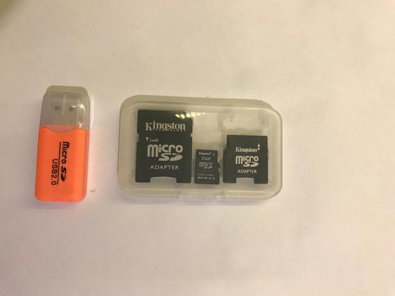 Cartão De Memória Com Dois Adaptadores Micro Sd Kingston 1gb