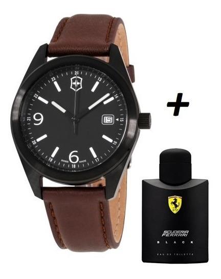 Promoção Relógio Victorinox + Perfume Ferrari Black 125ml