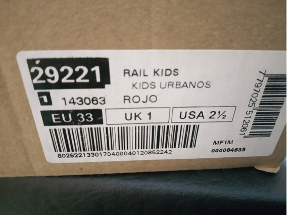 Zapatillas Topper Raúl Kids Rojas 33