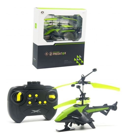 Helicoptero De Controle Remoto Sensorial Led E Sistema Giro