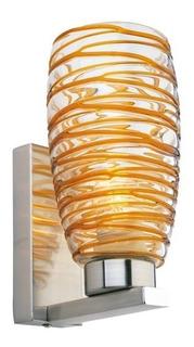 Lampara Arbotante Decorativa Nido 1 Luz Ámbar Hw030473-1