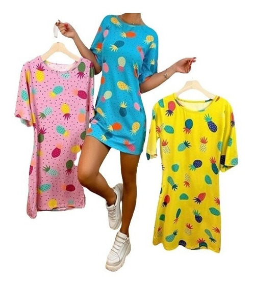 Kit 20 Blusão Vestido Feminino Várias Estampas Modinha 2020
