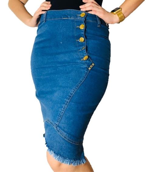 Saia Kit 10 Pecas Jeans , Lycra Luxo Atacado