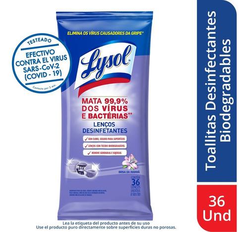 Imagen 1 de 1 de Lysol Desinfectante Toallitas Biod - Unidad a $7341