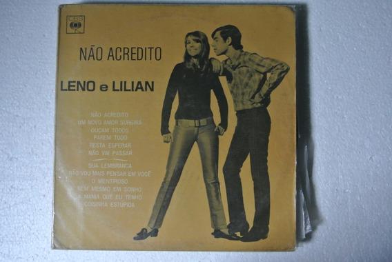 Lp Leno E Lilian - Não Acredito - 1967