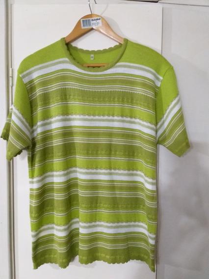 Sweater De Hilo Mujer Verde Manzana L
