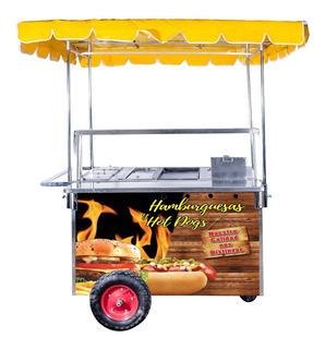 Carrito Hot Dog Hamburguesas Mod.chg126 Puesto Comida Carro