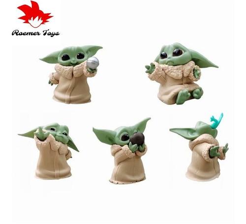 Baby Yoda Set De 5 Figuras De Coleccion Star Wars 6 Cm