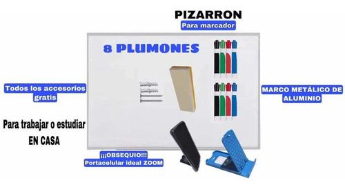 Imagen 1 de 4 de Pizarron Blanco 90x120 No Se Mancha Plumones Gratis Y Torn