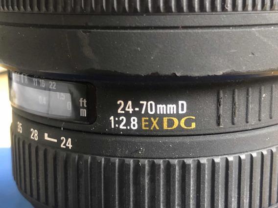 Lente Sigma Nikon 24-70 2.8 Exdg - Leia A Descrição
