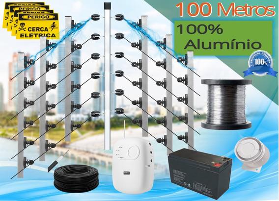Kit Cerca Elétrica Intelbras 100m Litoral Cabo 100% Alumínio