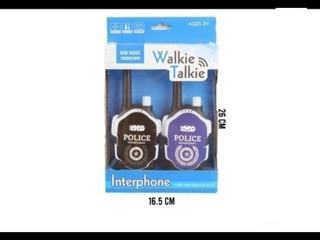 Juguete Walkie Talkie De Policia Para Niño/a, 2 Unidades