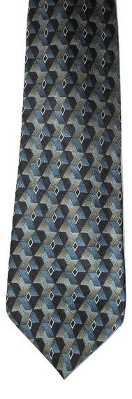 Corbata Louis Roth Diseño En Tonos Azules Con Rombos
