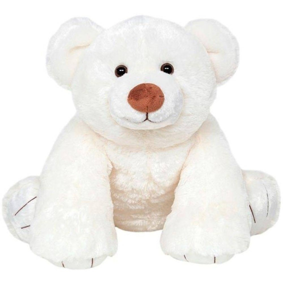 Pelúcia Urso Polar Branco Grande 50 Cm - Buba Toys