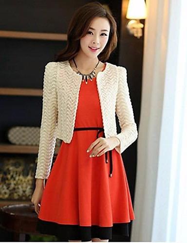 Vestido Naranja Y Saco