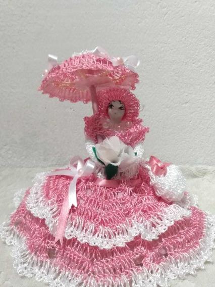 Bonequinha De Crochê Para Decoração
