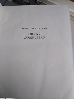 Santa Teresa De Jesús Obras Completas