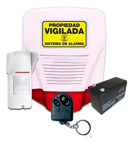 Imagen 1 de 3 de Kit Alarma Domiciliaria Perimetral Cableada Pir Exterior