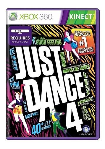 Jogo Just Dance 4 Xbox 360 Mídia Física Lacrado Original